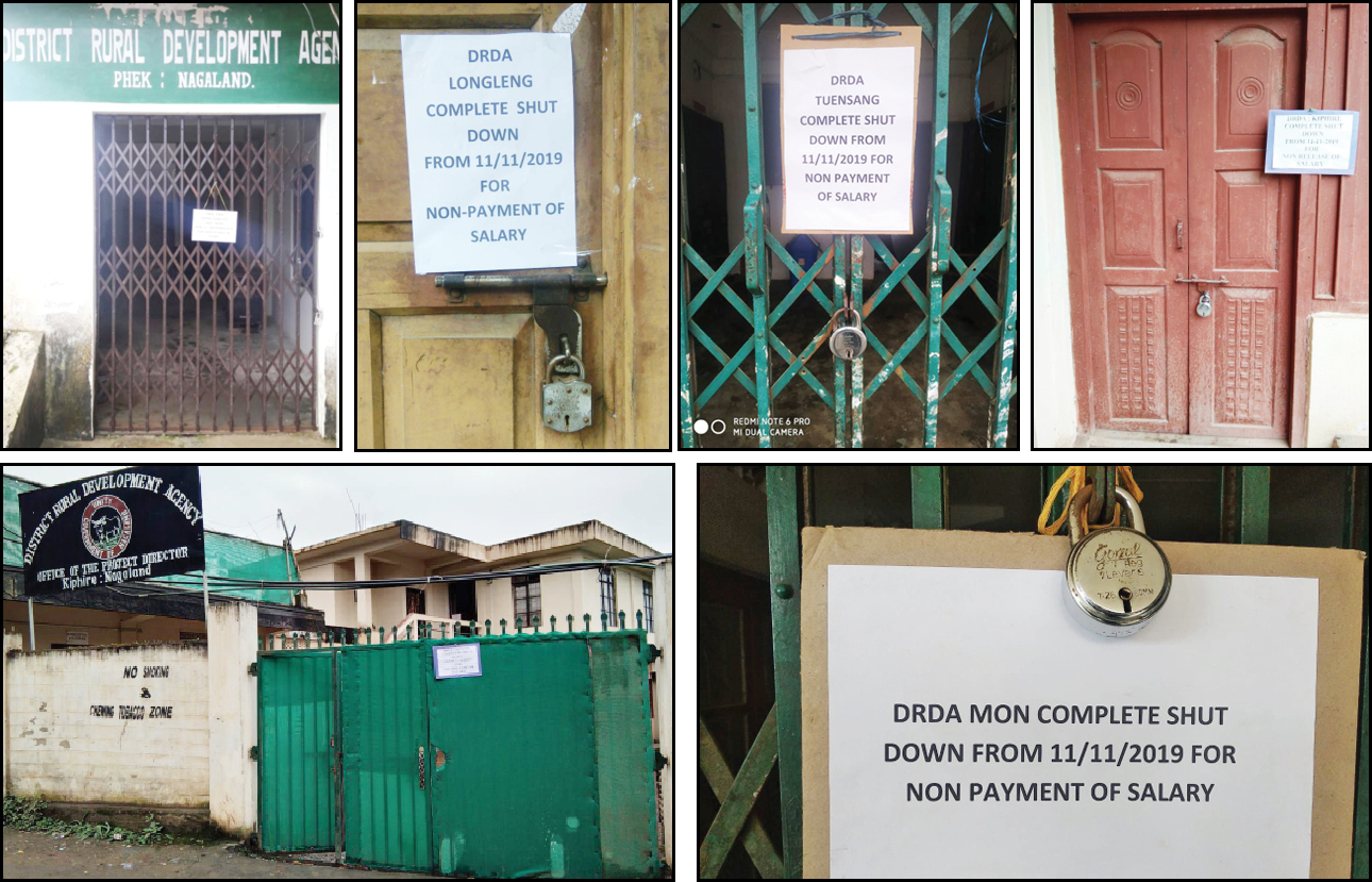 Nagaland DRDA offices close down again,  protest resumes against non-release of pay