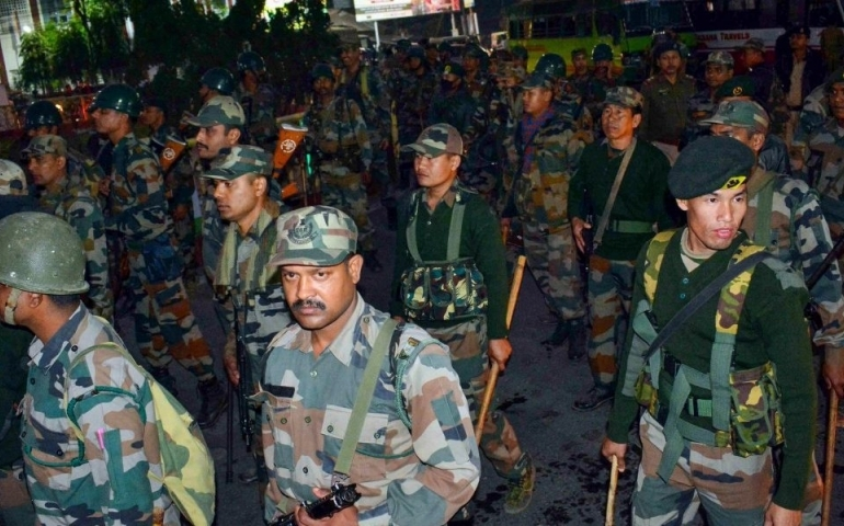 Assam rages over CAB, Army conducts flag march