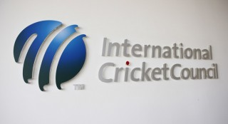 The International Cricket Council (ICC) logo at the ICC headquarters in Dubai. (Reuters File Photo)