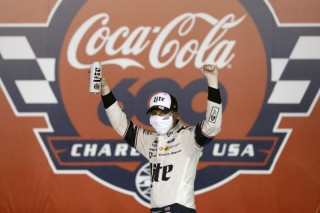 NASCAR Cup Series driver Brad Keselowski (2) celebrates winning the Coca-Cola 600 at Charlotte Motor Speedway on May 24. Credit: Gerry Broome/Pool Photo via USA TODAY Network