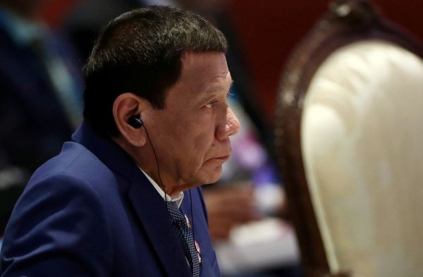 Philippine President Rodrigo Duterte attends a plenary session at a regional summit in Bangkok, Thailand on November 2, 2019. (REUTERS File Photo)