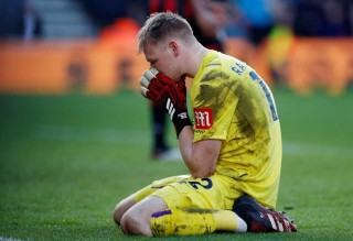Bournemouth's Aaron Ramsdale reacts after Chelsea's second goal. (Reuters File Photo)