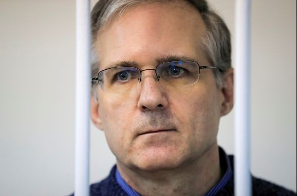Former U.S. Marine Paul Whelan, who was detained and accused of espionage, stands inside a defendants' cage during a court hearing on extending his pre-trial detention, in Moscow, Russia on October 24, 2019.  (REUTERS File Photo)