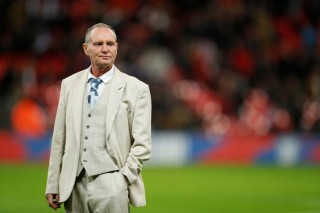 Former England international Paul Gascoigne on the pitch at half time. (Reuters File Photo)