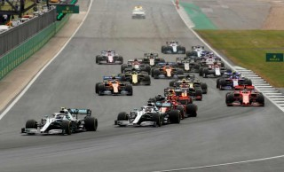 Mercedes' Valtteri Bottas leads Mercedes' Lewis Hamilton at the first corner of the race. (Reuters File Photo)