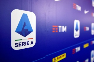A logo of Italy's Lega Serie A is seen in Milan, Ital. (Reuters File Photo)