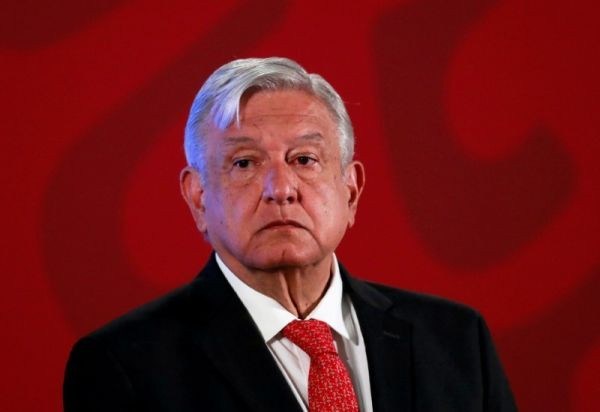 Mexico's President Andres Manuel Lopez Obrador holds a news conference at the National Palace in Mexico City, Mexico on March 17, 2020. (REUTERS File Photo)