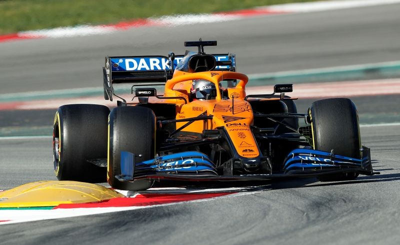 McLaren's Carlos Sainz Jr. in action during testing REUTERS/Albert Gea/File Photo