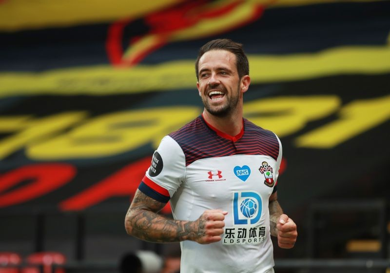 Southampton's Danny Ings celebrates scoring their second goal, as play resumes behind closed doors following the outbreak of the coronavirus disease (COVID-19) Adam Davy/Pool via REUTERS