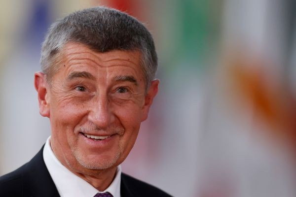 Czech Republic Prime Minister Andrej Babis arrives for a European Union summit meeting in Brussels, Belgium on February 20, 2020. (REUTERS File Photo)