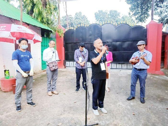 Executive secretary, WSBAK, Rev Dr Pughoto Aye, led a prayer fellowship at COVID-19 quarantine centre, LFI, on May 25.