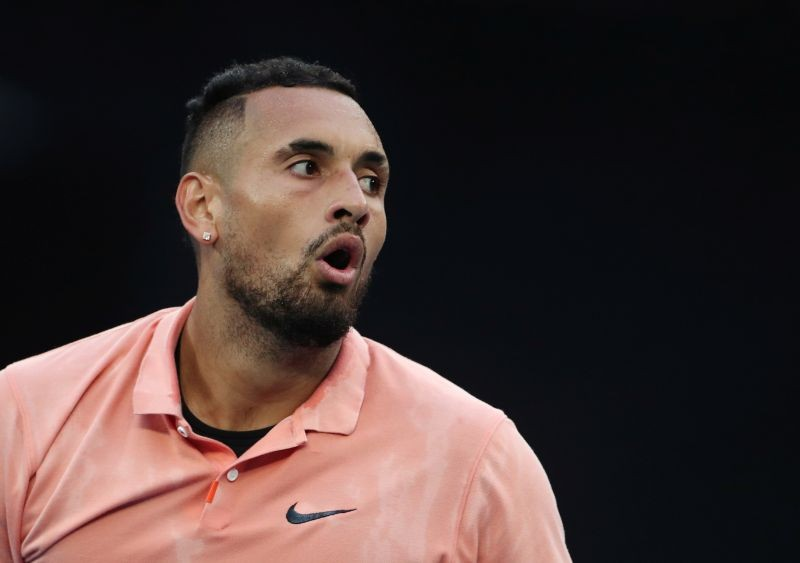 Australia's Nick Kyrgios during the match against France's Gilles Simon. REUTERS/Hannah Mckay/File Photo