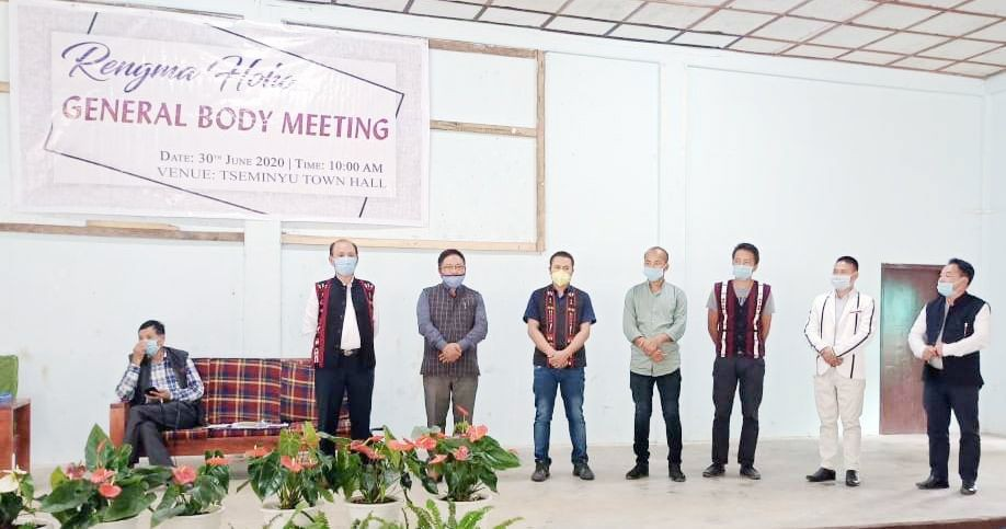 New team of Rengma Hoho for the tenure 2020-2023 took over the office of RH during its general body meeting held at Tseminyu town hall on June 30.