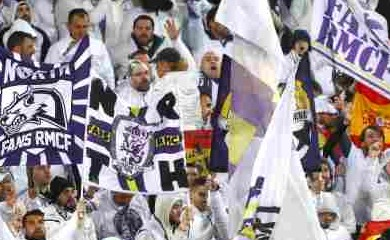 Real Madrid fans before the match (Reuters File Photo)