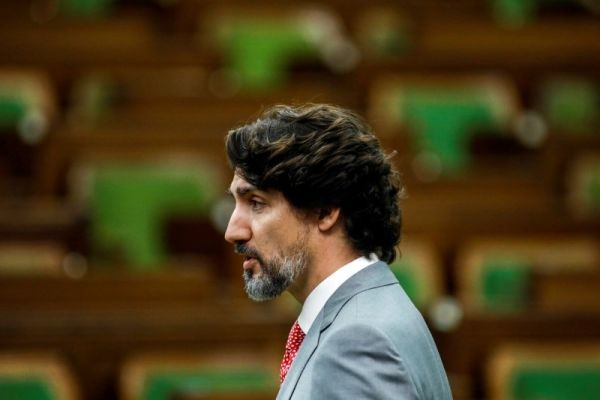 Canada's Prime Minister Justin Trudeau speaks during a meeting of the special committee on the COVID-19 outbreak, as efforts continue to help slow the spread of the coronavirus disease (COVID-19), in the House of Commons on Parliament Hill in Ottawa, Ontario, Canada on May 20, 2020. (REUTERS File Photo)