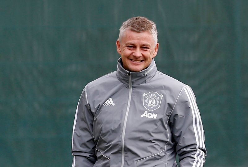 Manchester United manager Ole Gunnar Solskjaer during training Action Images via Reuters/Craig Brough/File Photo