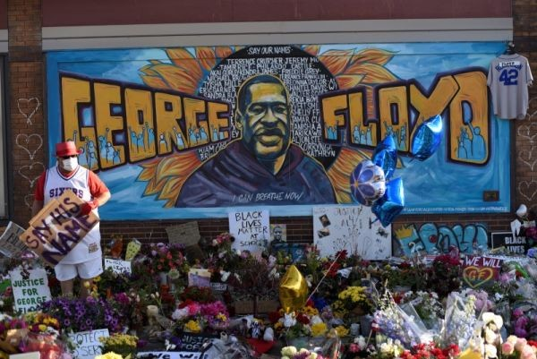 General view of George Floyd's memorial site during the first morning after all four officers involved have been criminally charged in Floyd's death following over a week of nation-wide protests in Minneapolis, Minnesota, US on June 4. (REUTERS Photo)