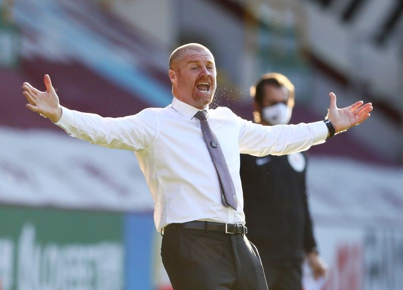 Burnley manager Sean Dyche reacts, as play resumes behind closed doors following the outbreak of the coronavirus disease (COVID-19) Michael Steele/Pool via REUTERS