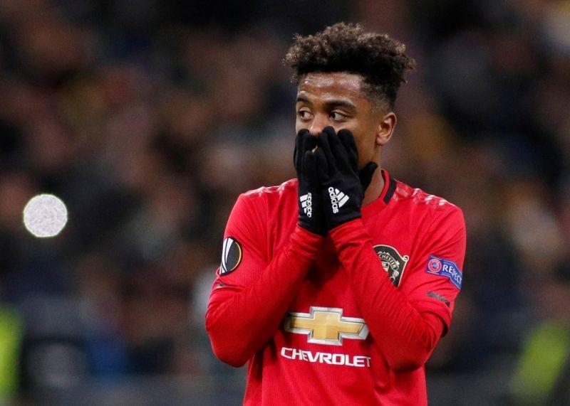 Manchester United's Angel Gomes reacts REUTERS/Valentyn Ogirenko/File Photo