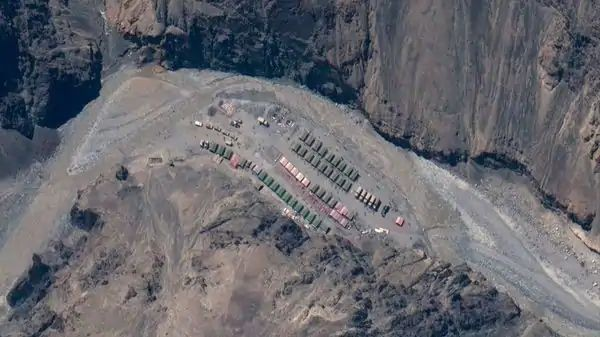 Galwan Valley: May 22, 2020, satellite image provided by Maxar Technologies shows China's PLA base in the Galwan Valley in LAC, the border between India and China. (Photo: AP)