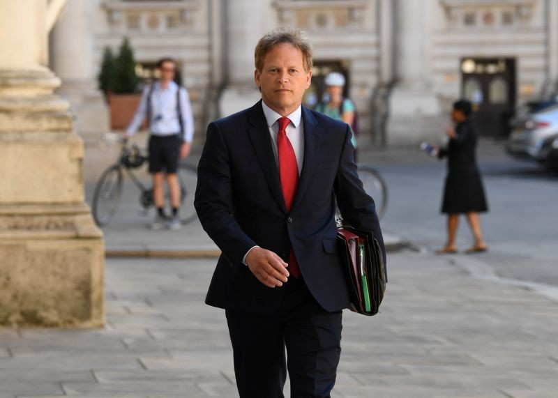 Britain's Secretary of State for Transport Grant Shapps arrives at the Foreign and Commonwealth Office (FCO) in London, Britain on July 21, 2020. (REUTERS Photo)