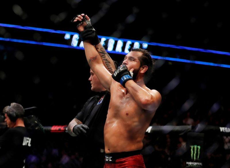 Jorge Masvidal celebrates winning the fight REUTERS/Matthew Childs/File Photo