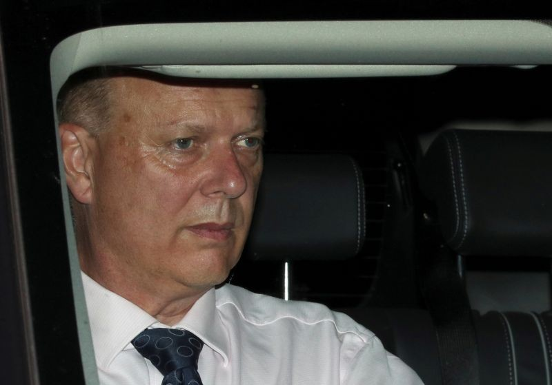 British MP Chris Grayling leaves the Houses of Parliament in London, Britain on September 4, 2019. (REUTERS File Photo)