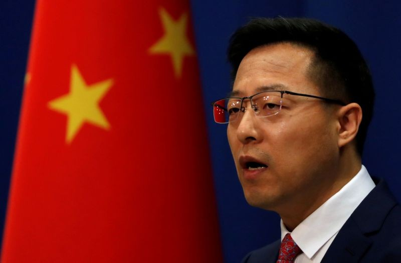 Chinese Foreign Ministry spokesman Zhao Lijian speaks at a news conference in Beijing, China on April 8, 2020. (REUTERS File Photo)