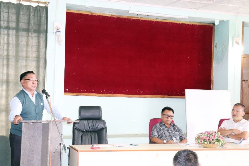 Director of Agriculture, M Ben Yanthan addressing the one-day training and awareness programme held at its Conference Hall on July 7.