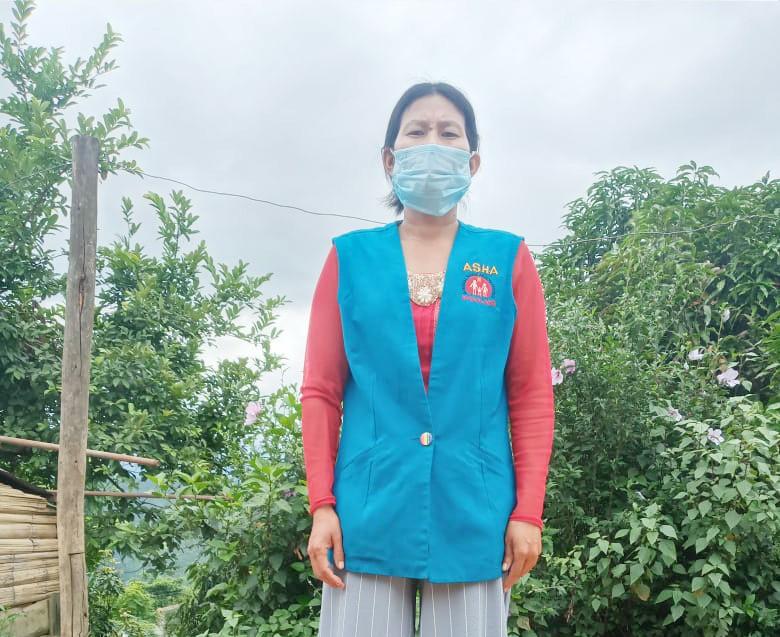 Rebecca Thuer, an ASHA in Molen village under Meluri block of Phek.