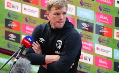 Bournemouth manager Eddie Howe speaks to the media after the match, as play resumes behind closed doors following the outbreak of the coronavirus disease (COVID-19) Michael Steele/Pool via REUTERS
