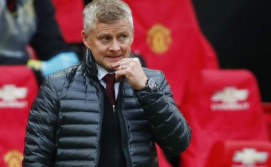 Manchester United manager Ole Gunnar Solskjaer, as play resumes behind closed doors following the outbreak of the coronavirus disease (COVID-19) Clive Brunskill/Pool via REUTERS