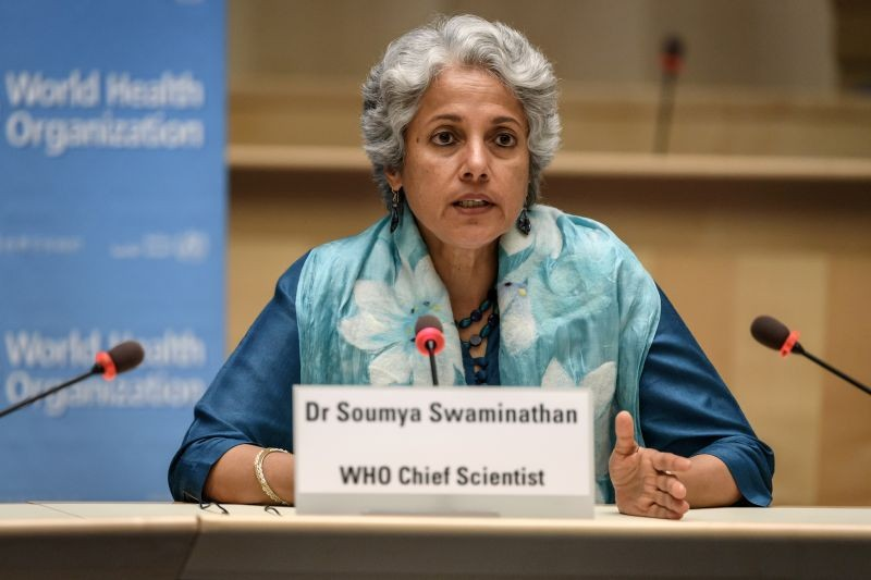 World Health Organization (WHO) Chief Scientist Soumya Swaminathan attends a press conference organised by the Geneva Association of United Nations Correspondents (ACANU) amid the COVID-19 outbreak, caused by the novel coronavirus, at the WHO headquarters in Geneva Switzerland on July 3. (REUTERS Photo)