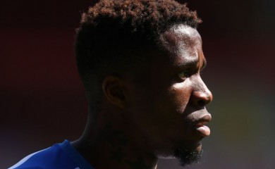 Crystal Palace's Wilfried Zaha, as play resumes behind closed doors following the outbreak of the coronavirus disease (COVID-19) Catherine Ivill/Pool via REUTERS
