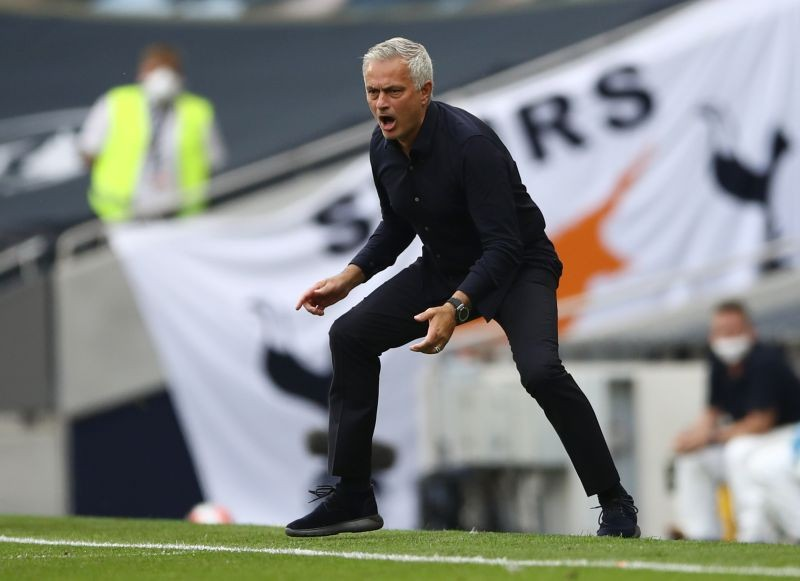 Tottenham Hotspur manager Jose Mourinho, as play resumes behind closed doors following the outbreak of the coronavirus disease (COVID-19) Tim Goode/Pool via REUTERS