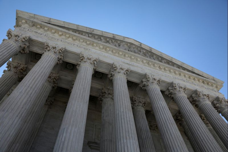 A general view of the U.S. Supreme Court building in Washington, US on July 2, 2020. (REUTERS File Photo)