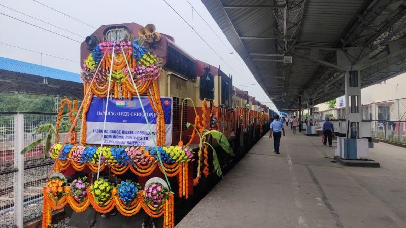 The Indian Railways handed over 10 locomotives to Bangladesh on July 27.