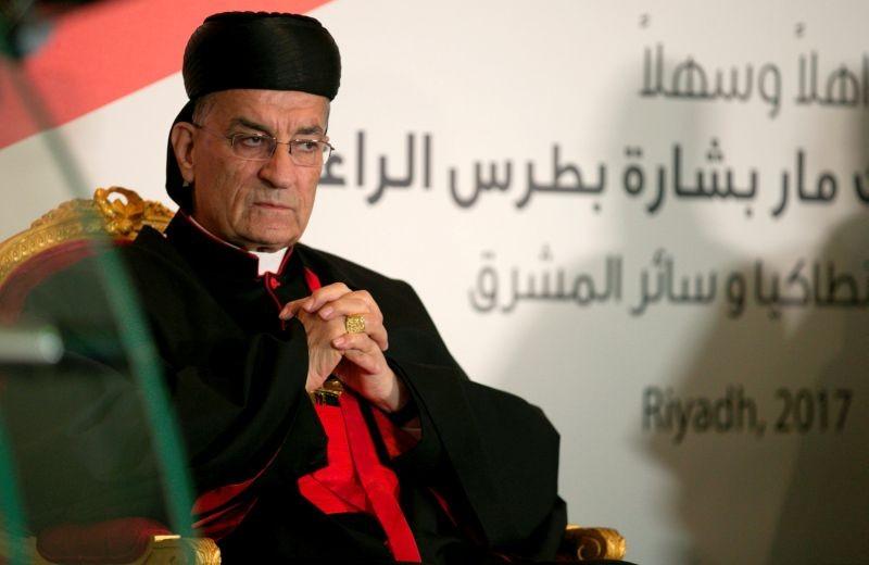 Lebanese Maronite Patriarch Bechara Boutros Al-Rai visits the Lebanese embassy in Riyadh, Saudi Arabia on November 13, 2017. (REUTERS File Photo)