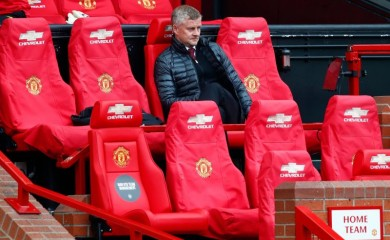 Manchester United manager Ole Gunnar Solskjaer, as play resumes behind closed doors following the outbreak of the coronavirus disease (COVID-19) Clive Brunskill/Pool via REUTERS/File photo