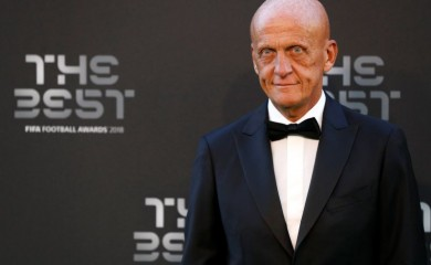 Pierluigi Collina before the start of the awards Action Images via Reuters/John Sibley/Files
