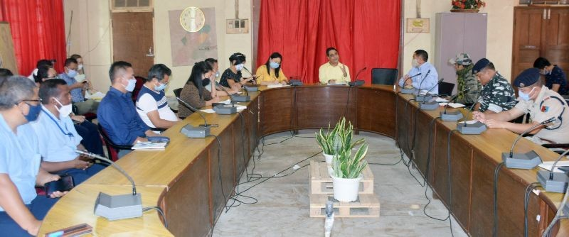 DC Dimapur, Anoop Kinchi, IAS addressing the meeting with the District Disaster Management Authority (DDMA) members held on July 2. (DIPR Photo)