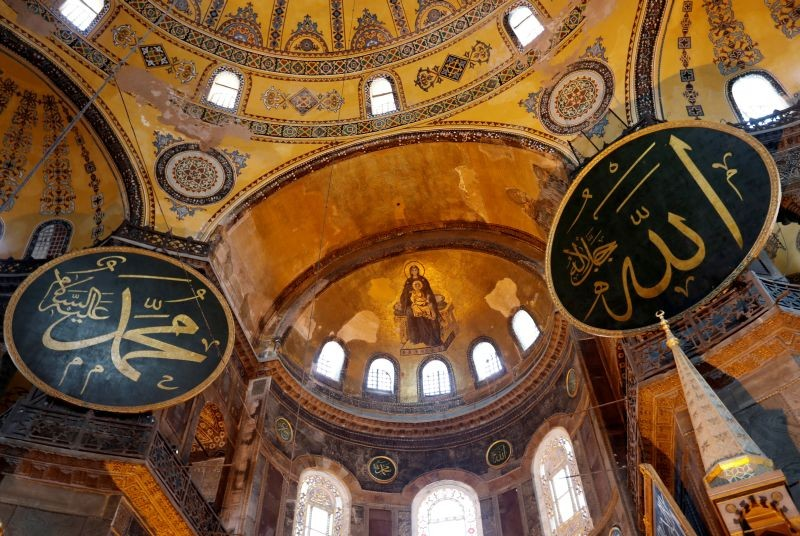 A view of Hagia Sophia or Ayasofya, a UNESCO World Heritage Site, which was a Byzantine cathedral before being converted into a mosque and is now a museum,  in Istanbul, Turkey on June 30, 2020. (REUTERS File Photo)