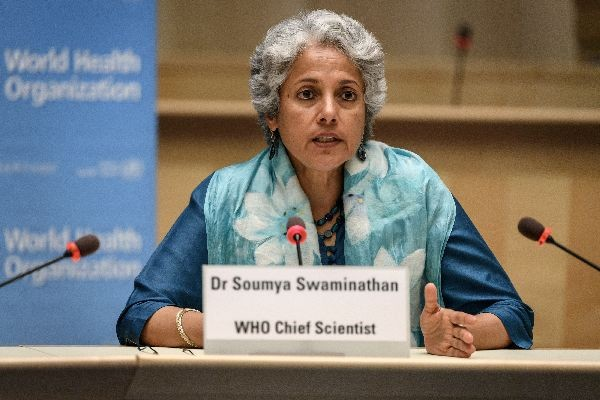 World Health Organization (WHO) Chief Scientist Soumya Swaminathan attends a press conference organised by the Geneva Association of United Nations Correspondents (ACANU) amid the COVID-19 outbreak, caused by the novel coronavirus, at the WHO headquarters in Geneva Switzerland July 3, 2020. Fabrice Coffrini/Pool via REUTERS
