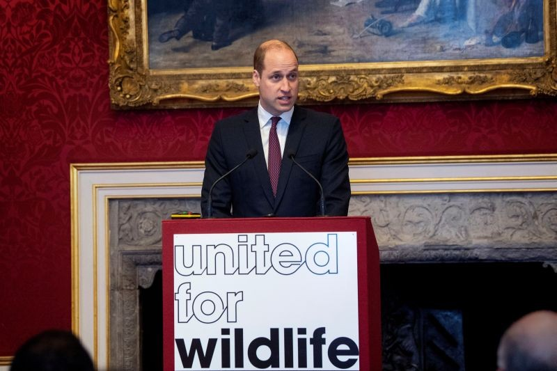 Britain's Prince William delivers a speech during a meeting of the United for Wildlife Taskforces in London, Britain on January 21, 2020. (REUTERS File Photo)