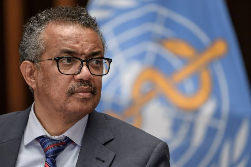 World Health Organization (WHO) Director-General Tedros Adhanom Ghebreyesus attends a news conference organized by Geneva Association of United Nations Correspondents (ACANU) amid the COVID-19 outbreak, caused by the novel coronavirus, at the WHO headquarters in Geneva Switzerland on July 3, 2020. (REUTERS File Photo)