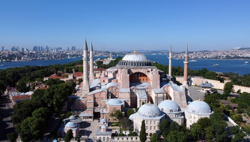 Hagia Sophia or Ayasofya, a UNESCO World Heritage Site, that was a Byzantine cathedral before being converted into a mosque which is currently a museum, is seen in Istanbul, Turkey on June 28, 2020. (REUTERS File Photo)