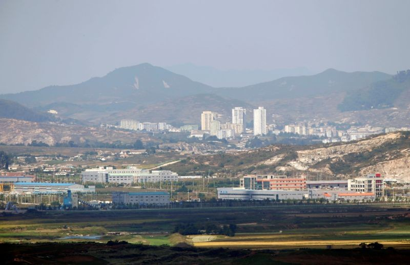 Kaesong city is seen across the demilitarised zone (DMZ) separating North Korea from South Korea in this picture taken from Dora observatory in Paju, 55 km (34 miles) north of Seoul on September 25, 2013. (REUTERS File Photo)