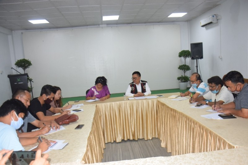 APC Nagaland Y Kikheto addressing a press conference on at Hotel Saramati in Dimapur on July 5. (DIPR Photo)
