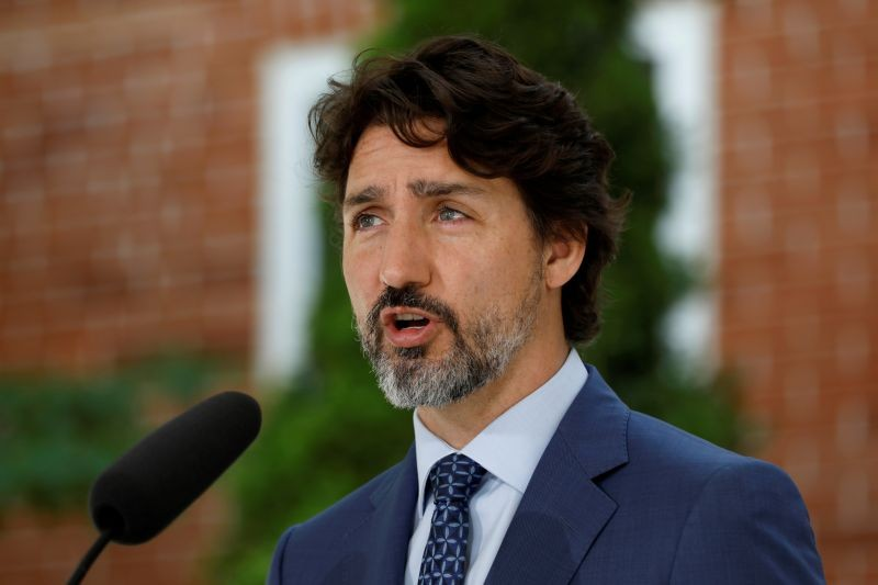 Canada's Prime Minister Justin Trudeau attends a news conference at Rideau Cottage, as efforts continue to help slow the spread of coronavirus disease (COVID-19), in Ottawa, Ontario, Canada on June 22, 2020. (REUTERS File Photo)
