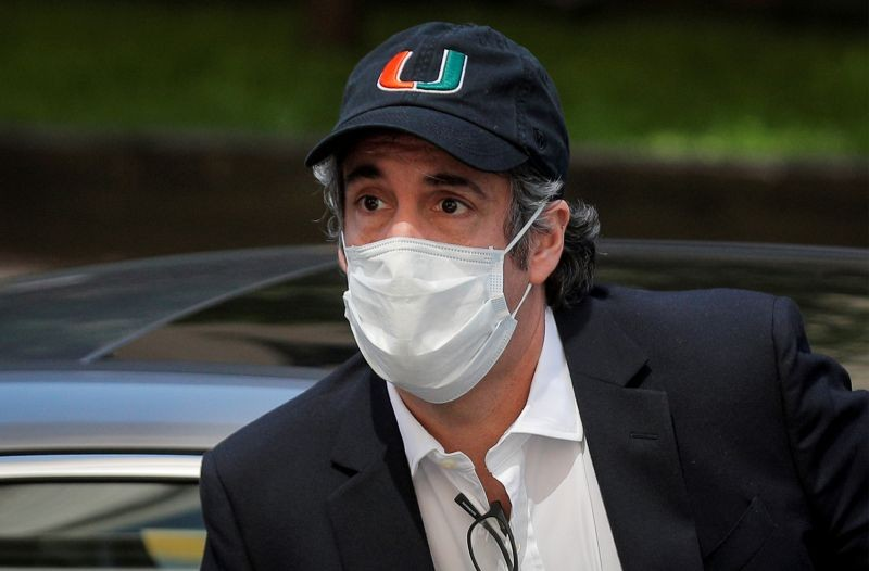 Michael Cohen, the former lawyer for U.S. President Donald Trump, arrives back at home after being released from prison during the outbreak of the coronavirus disease (COVID-19) in New York City, New York, US on May 21, 2020. (REUTERS File Photo)